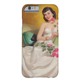 Retro 1950s Woman With Roses Barely There iPhone 6 Case