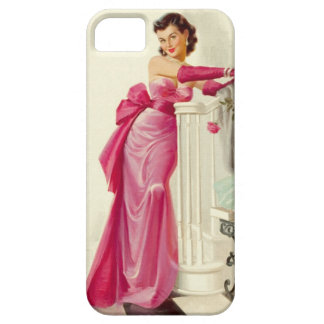 Retro 1950s Woman With Roses Case For The iPhone 5