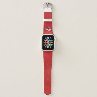 Retro 1958 Classic Black & White Checked Race Flag Apple Watch Band