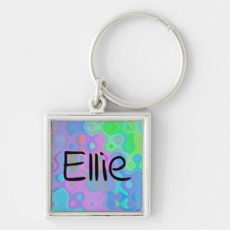 Retro 1970s Customizable Keychain