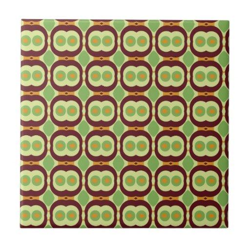 Retro 1970s Design With Small Circles Green Zazzle