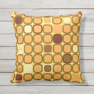 Retro 1970's Harvest Gold Pattern Throw Pillow