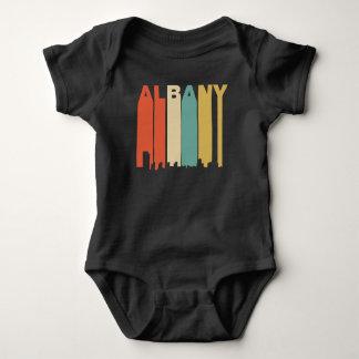 Retro 1970's Style Albany New York Skyline Baby Bodysuit