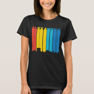 Retro 1970's Style Alexandria Louisiana Skyline T-Shirt