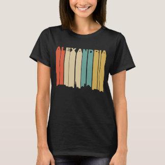 Retro 1970's Style Alexandria Virginia Skyline T-Shirt