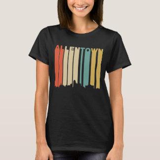Retro 1970's Style Allentown Pennsylvania Skyline T-Shirt