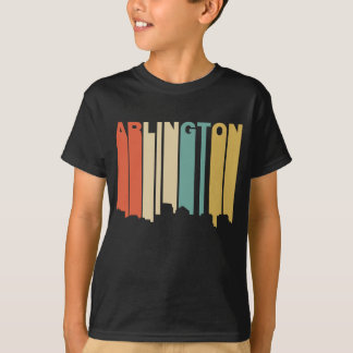 Retro 1970's Style Arlington Virginia Skyline T-Shirt