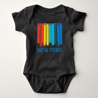 Retro 1970's Style Binghamton New York Skyline Baby Bodysuit
