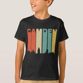 Retro 1970's Style Camden New Jersey Skyline T-Shirt