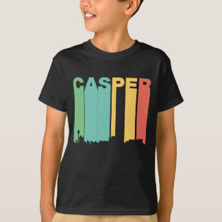 Retro 1970's Style Casper Wyoming Skyline T-Shirt