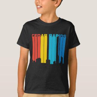Retro 1970's Style Cedar Rapids Iowa Skyline T-Shirt