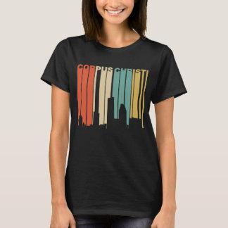 Retro 1970's Style Corpus Christi Texas Skyline T-Shirt