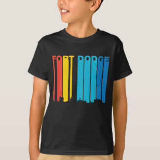 Retro 1970's Style Fort Dodge Iowa Skyline T-Shirt
