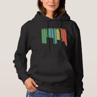 Retro 1970's Style Grand Rapids Michigan Skyline Hoodie