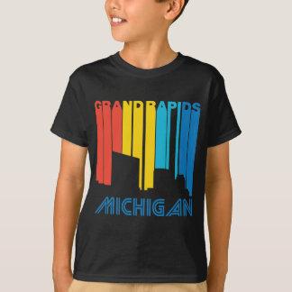 Retro 1970's Style Grand Rapids Michigan Skyline T-Shirt