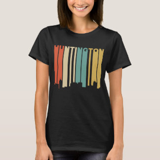 Retro 1970's Style Huntington West Virginia Skylin T-Shirt