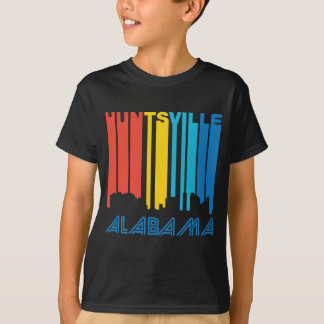 Retro 1970's Style Huntsville Alabama Skyline T-Shirt