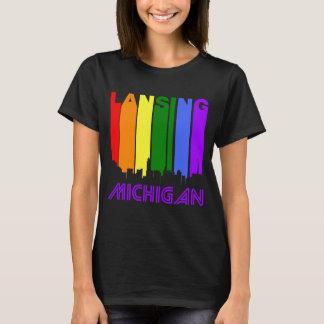 Retro 1970's Style Lansing Michigan Skyline T-Shirt