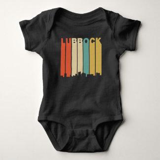 Retro 1970's Style Lubbock Texas Skyline Baby Bodysuit