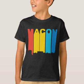Retro 1970's Style Macon Georgia Skyline T-Shirt