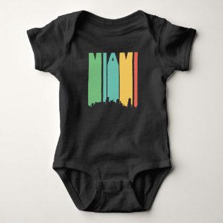 Retro 1970's Style Miami Florida Skyline Baby Bodysuit