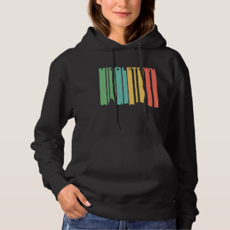 Retro 1970's Style Middletown Connecticut Skyline Hoodie