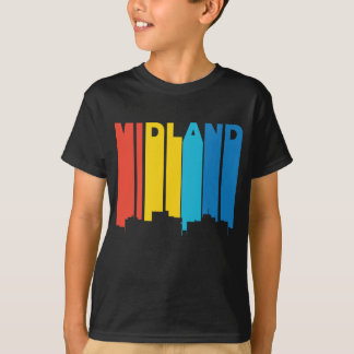 Retro 1970's Style Midland Texas Skyline T-Shirt