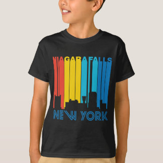 Retro 1970's Style Niagara Falls New York Skyline T-Shirt