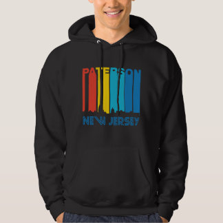 Retro 1970's Style Paterson New Jersey Skyline Hoodie