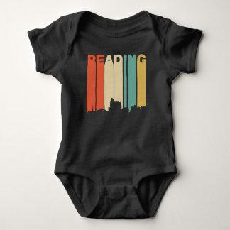 Retro 1970's Style Reading Pennsylvania Skyline Baby Bodysuit