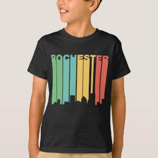 Retro 1970's Style Rochester New York Skyline T-Shirt