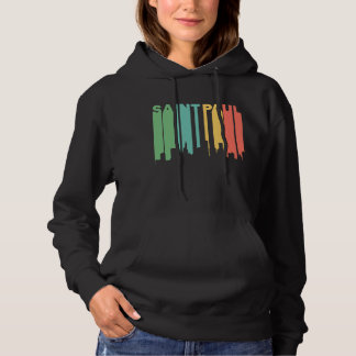 Retro 1970's Style Saint Paul Minnesota Skyline Hoodie