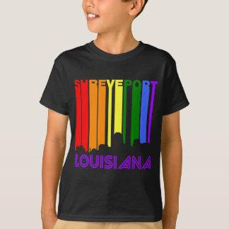 Retro 1970's Style Shreveport Louisiana Skyline T-Shirt