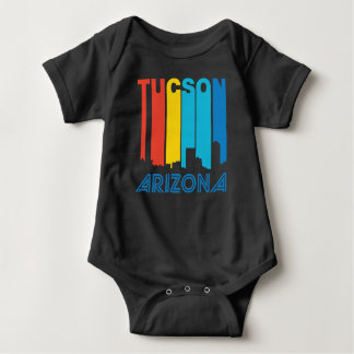 Retro 1970's Style Tucson Arizona Skyline Baby Bodysuit