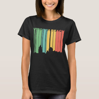 Retro 1970's Style Virginia Beach Virginia Skyline T-Shirt
