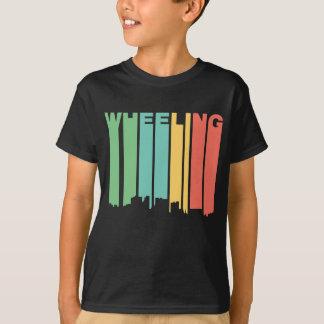 Retro 1970's Style Wheeling West Virginia Skyline T-Shirt