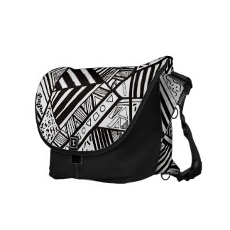Retro 1980's Abstract Commuter Bags