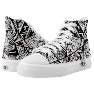 Retro 1980's Abstract Printed Shoes