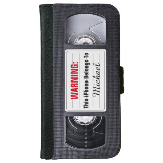 Retro 1980s VHS Video Tape Old School Style iPhone 6 Wallet Case