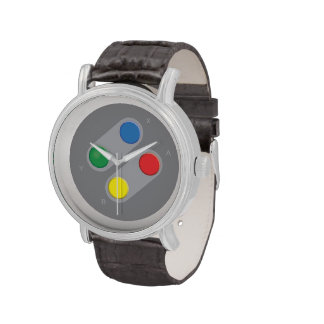 Retro 1980s video game graphic. watches