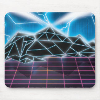 Retro 1980s video game graphic mouse pad