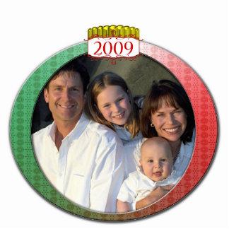 Retro 2009 Family Photo Christmas Ornament Photo Sculpture Decoration