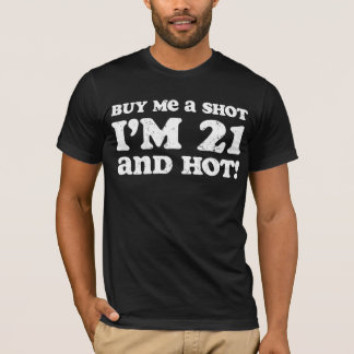Retro 21 & Hot Birthday T-Shirt