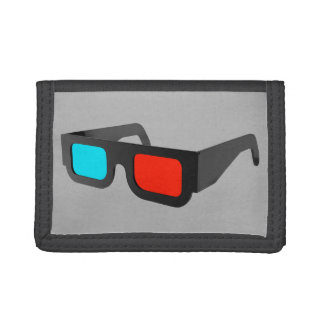 Retro 3D Glasses Graphic Trifold Wallet