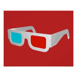 Retro 3D Glasses Poster