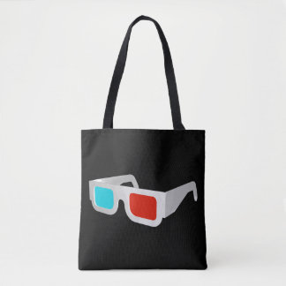 Retro 3D Glasses Tote Bag