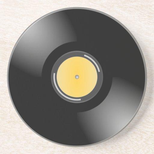 Retro 45 rpm Record Album Thirsty Coaster