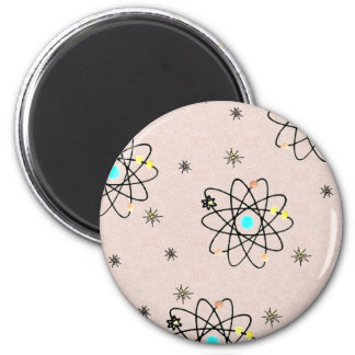 Retro 50s Atomic Print Pink Apparel & Gifts Magnet