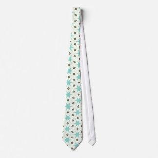 retro 50s blue stars kitche vintage pattern tie