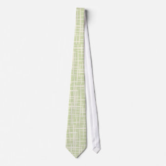retro 50s pale green kitche vintage pattern tie